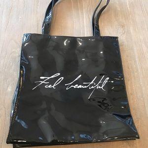 White House Black Market Black Shoulder Tote Bag